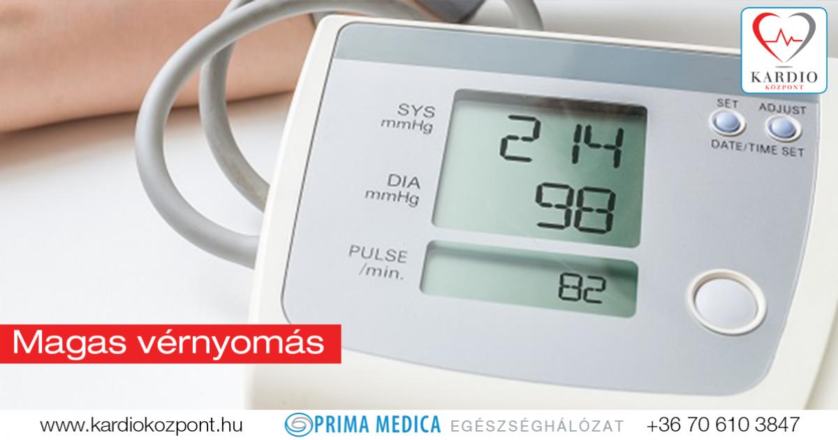 magas vérnyomással, alacsony alacsonyabb nyomással)
