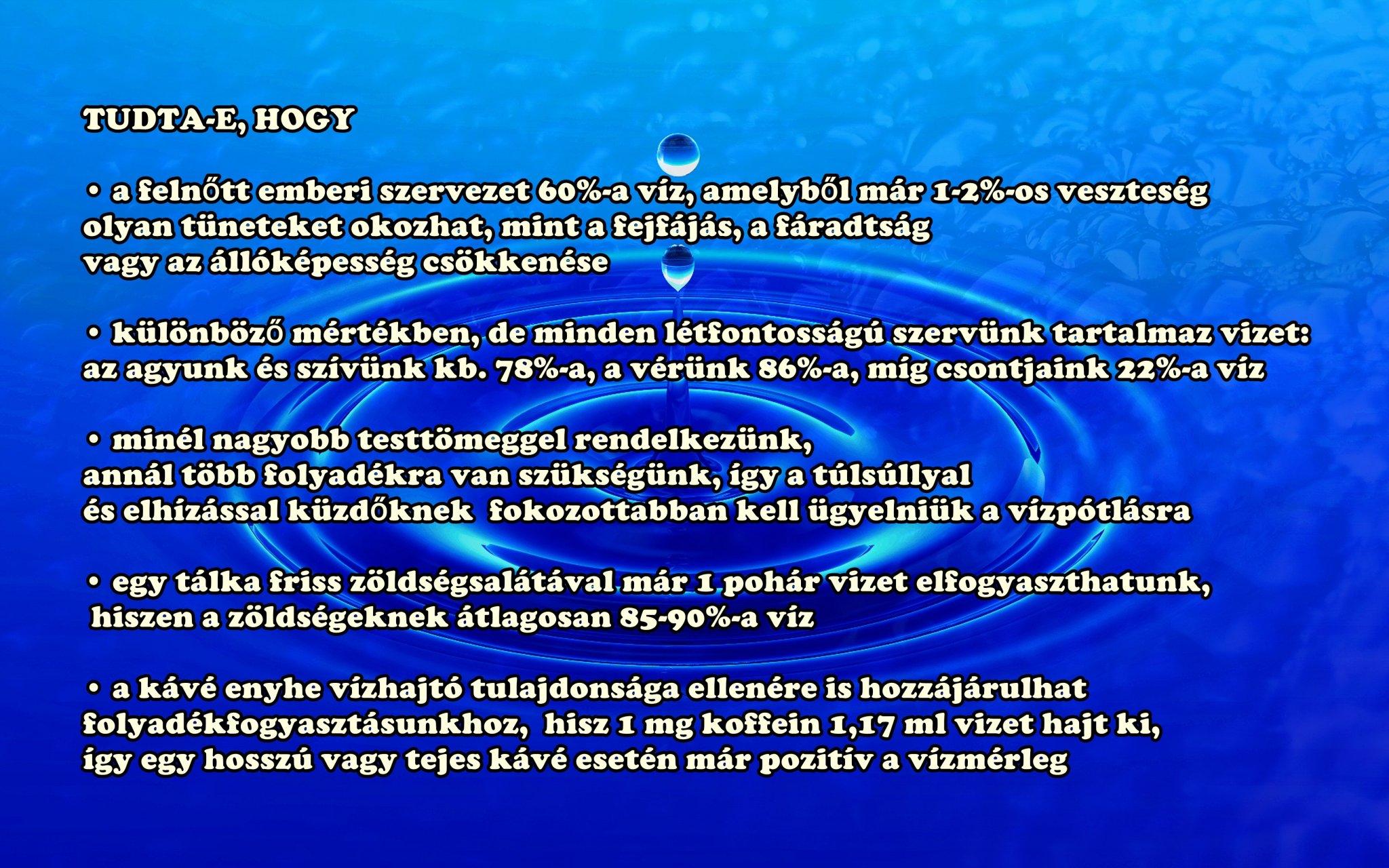 Mennyi vizet kell inni? | | Mandala egészségkuckó