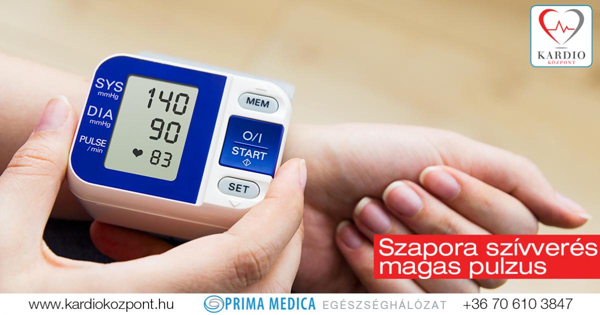 pulzusszám magas vérnyomás esetén)