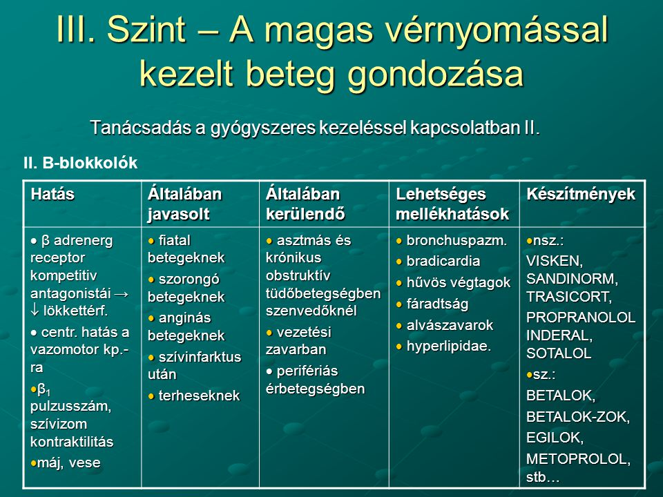 magas vérnyomás kezelés és laktáció)