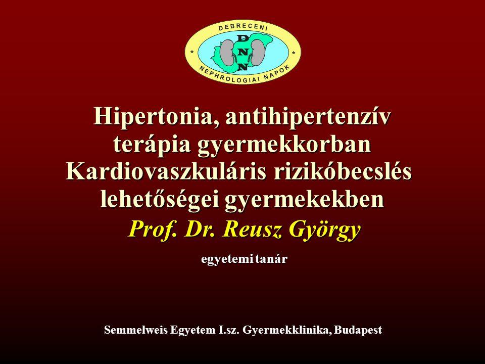 hipertónia kezelése gyermekeknél ajánlások