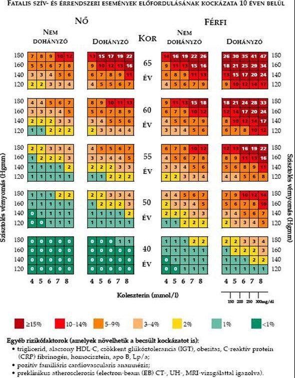 magas vérnyomás fokozatának kockázata