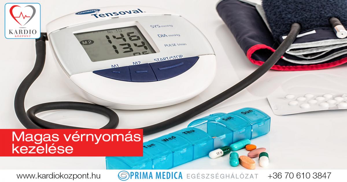 magas vérnyomás kezelés standard